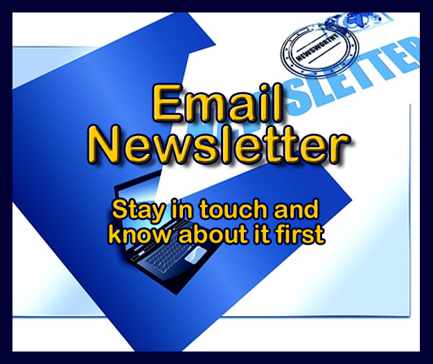 Join our email newsletter and be among the first to hear about new products, special events, specials and coupons.