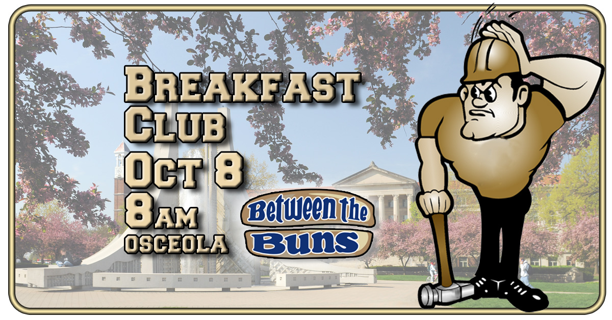 Come to the Purdue Breakfast Club October 8. Costumes, DJ, drink specials, everything a good breakfast club should be.